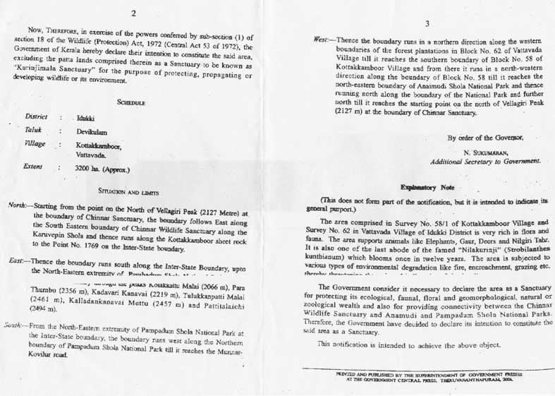 Gazette Notification page 2 and 3